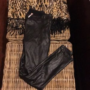 Free People Pants - Free People Faux suede leggings size 4.  Worn once